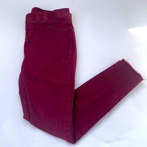 Justice Maroon Mid Rise Legging Size 20 Plus